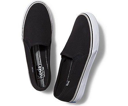 Double Decker   Black canvas shoes