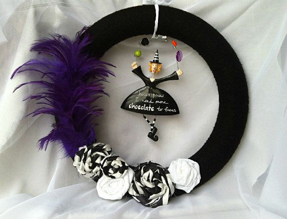 Hocus Pocus Halloween Wreath by GeorgiaCottonBlossom on Etsy