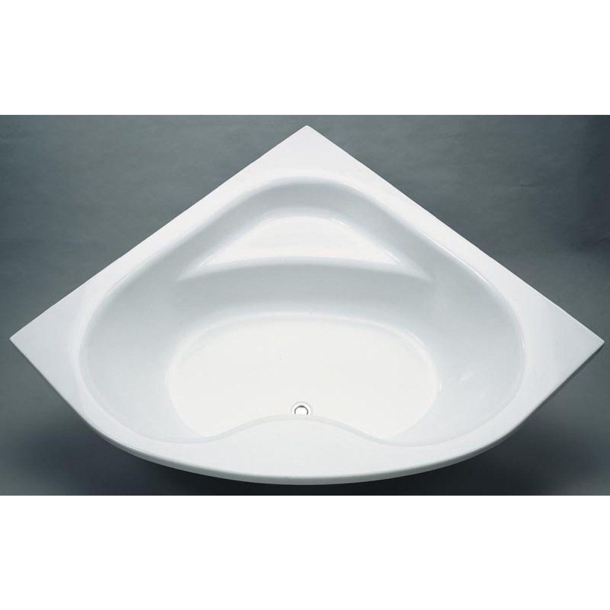 Baignoire D Angle A Encastrer Ou A Poser Ulysse 2 135x135cm Blanc