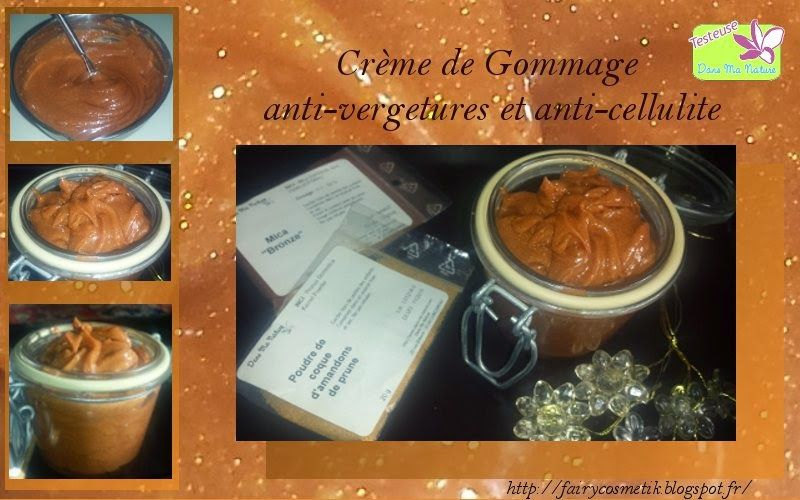 fairy cosm tik test dans ma nature cr me de gommage aux amandons de prune anti cellulite et. Black Bedroom Furniture Sets. Home Design Ideas