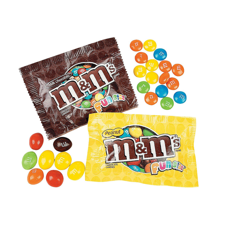 Ms Milk Chocolate & Peanut Fun Size Mix  Orientaltradingcom