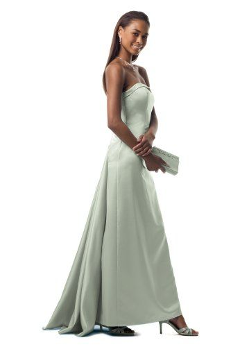 David S Bridal Strapless A Line With Cascading Back Style