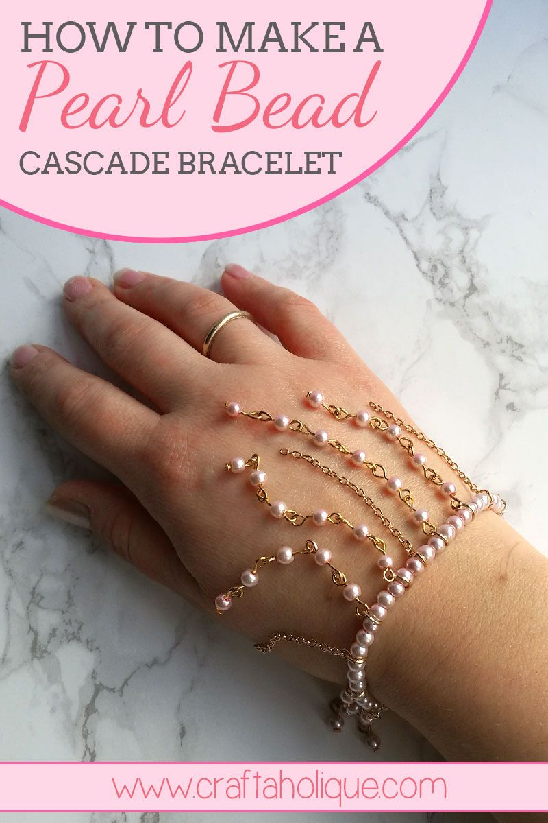 Beaded bracelet tutorial - find out how to make a very pretty beaded fringe pearl bracelet that cascades beautifully around your wrist! Read more...