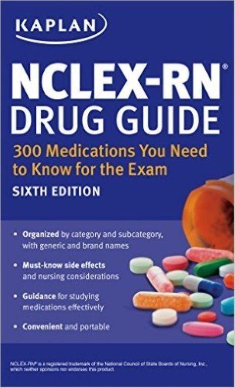 Details about Kaplan Test Prep NCLEX-RN Drug Guide: 300