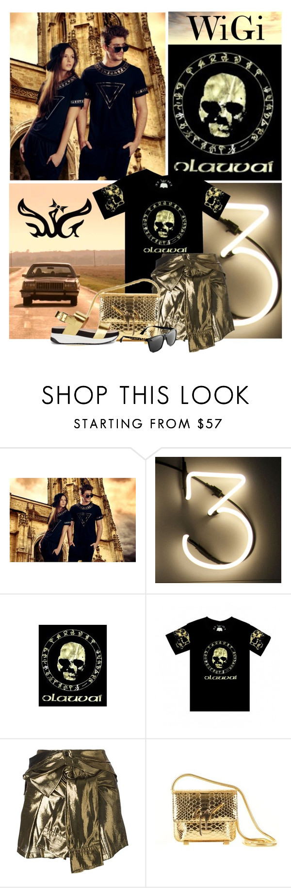 """""""WiGi"""" by lacas ❤ liked on Polyvore featuring Seletti, Faith Connexion, KG Kurt Geiger, wigicollection and wigier"""