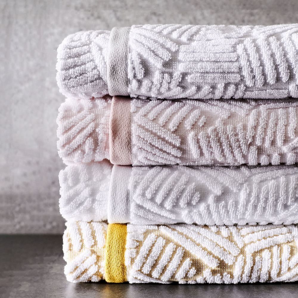 Organic Dashed Lines Sculpted Towels Gray Sky Gray Towels Towel Bedding Shop