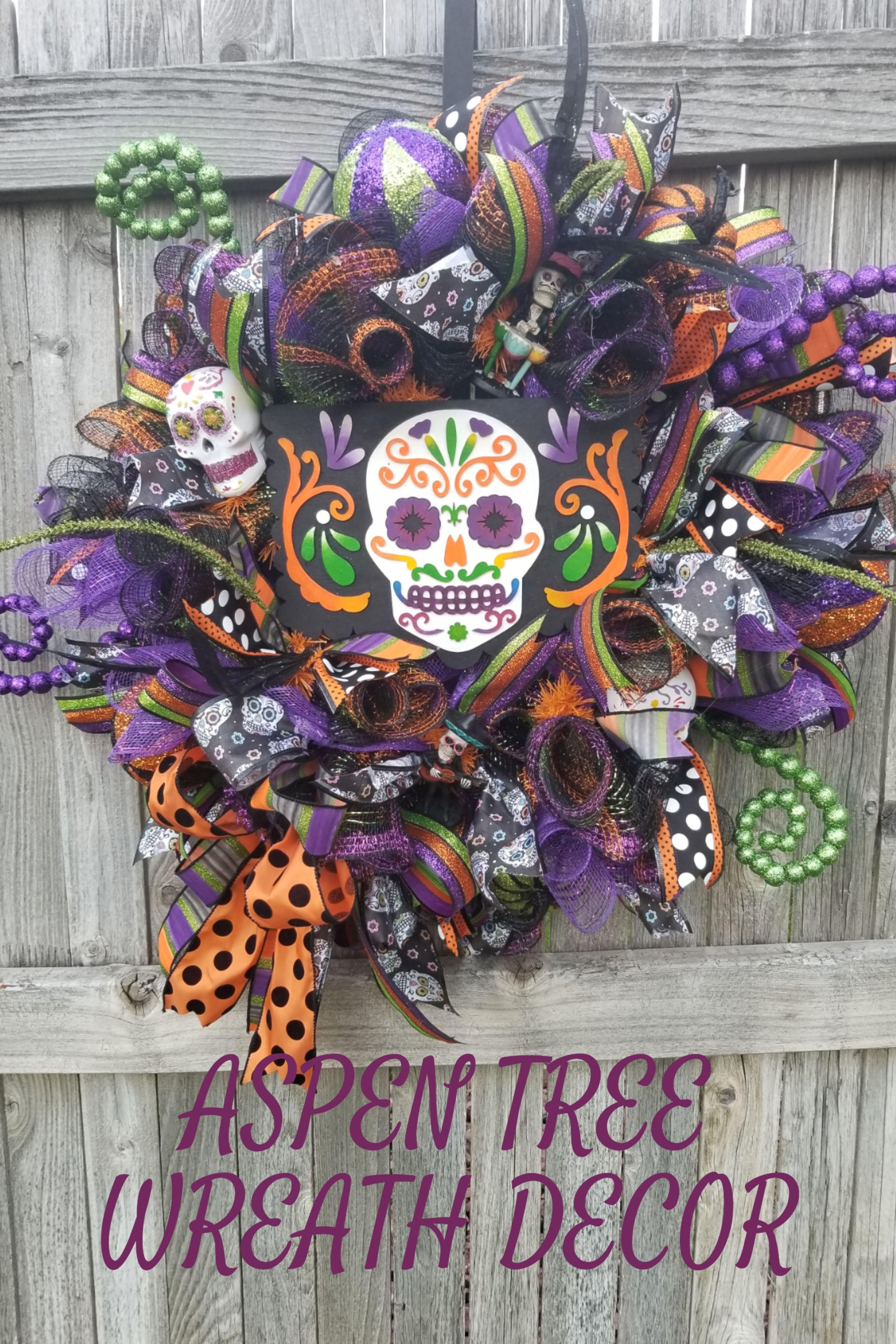 Skull Wreath Skeleton Wreath Skeleton Welcome Skull Wreath Halloween Wreath
