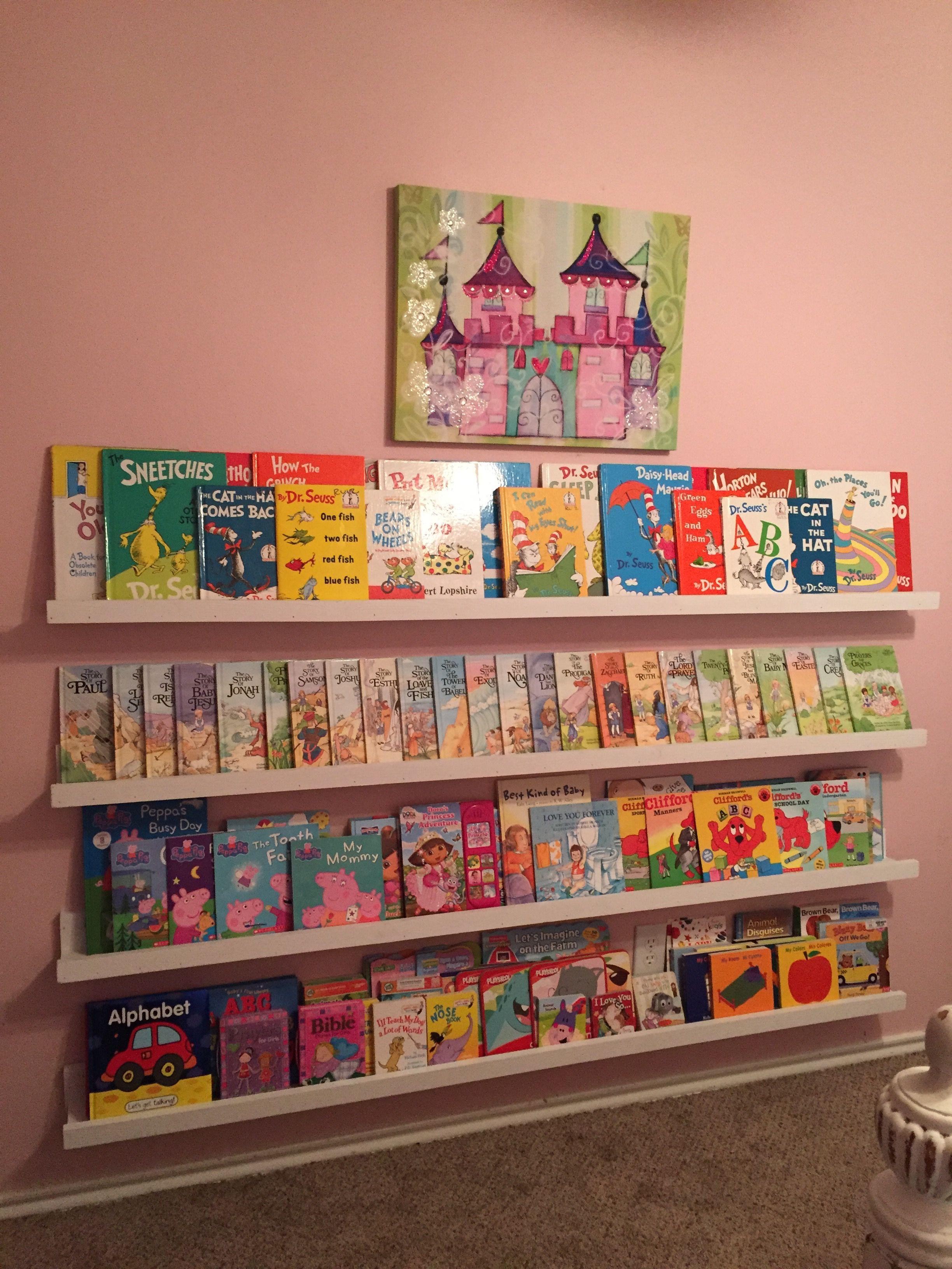 Diy Wall Bookshelves Toddler Books