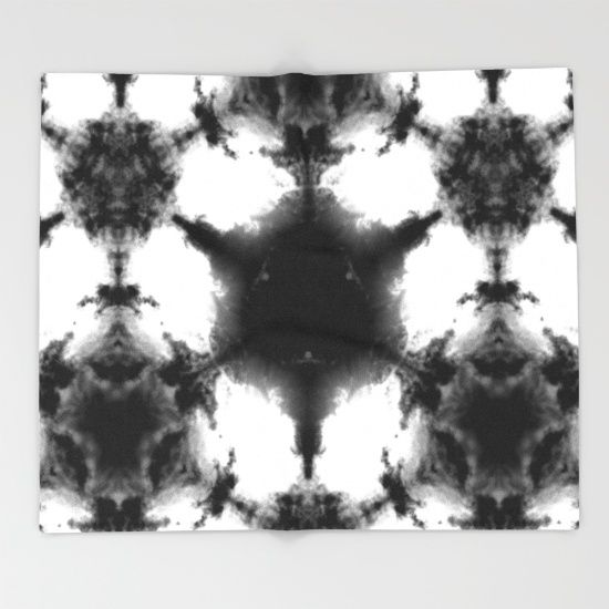 Pattern+of+clouds+17/+Hexagon+of+June+6++Throw+Blanket+by+Momenko+-+$49.00