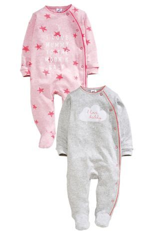 Buy Two Pack Pink Cloud Mum And Dad Sleepsuits (0mths-2yrs) online today at Next: United States of America