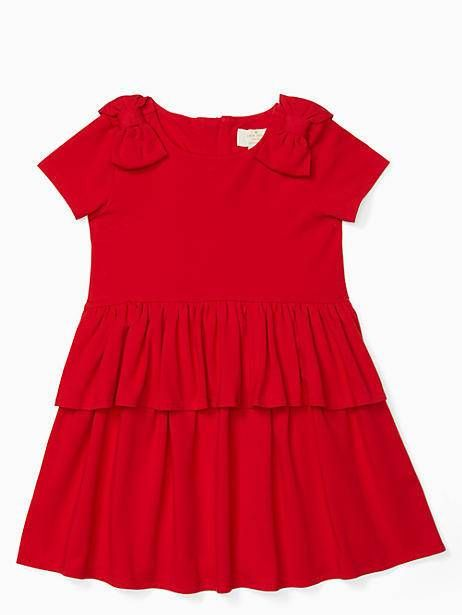 3208c2ac1 Kate Spade Toddler Peplum Waist Dress, Charm Red - Size 2 | Products ...