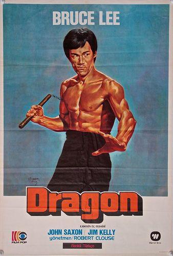 Enter The Dragon Turkish One Sheet Poster 1973 Bruce Lee Kung Fu