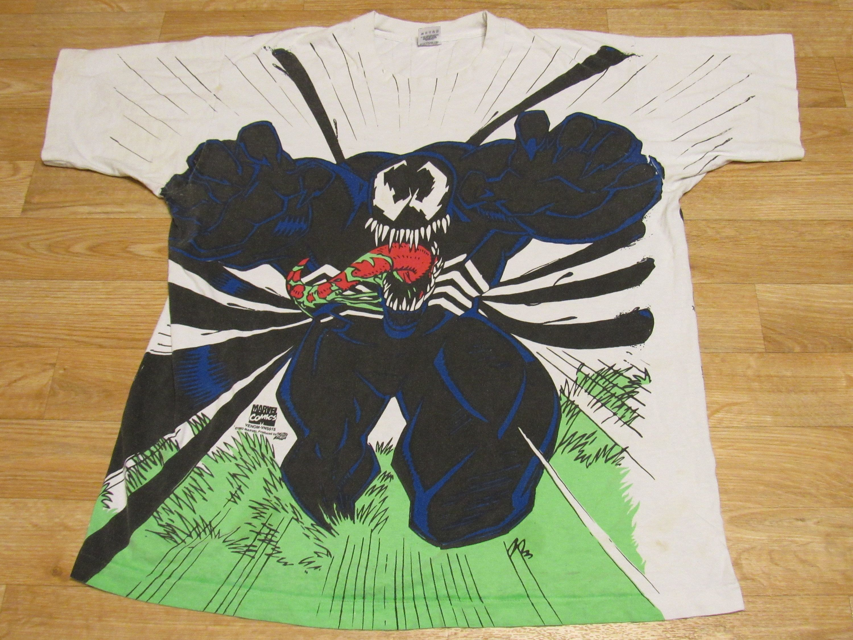 Vintage Venom Spiderman Carnage All Over Print Shirt 90s T Shirt Xl By Miraclevintagestore On Etsy Https Marvel Comics Vintage Marvel Tshirt Screen Printing