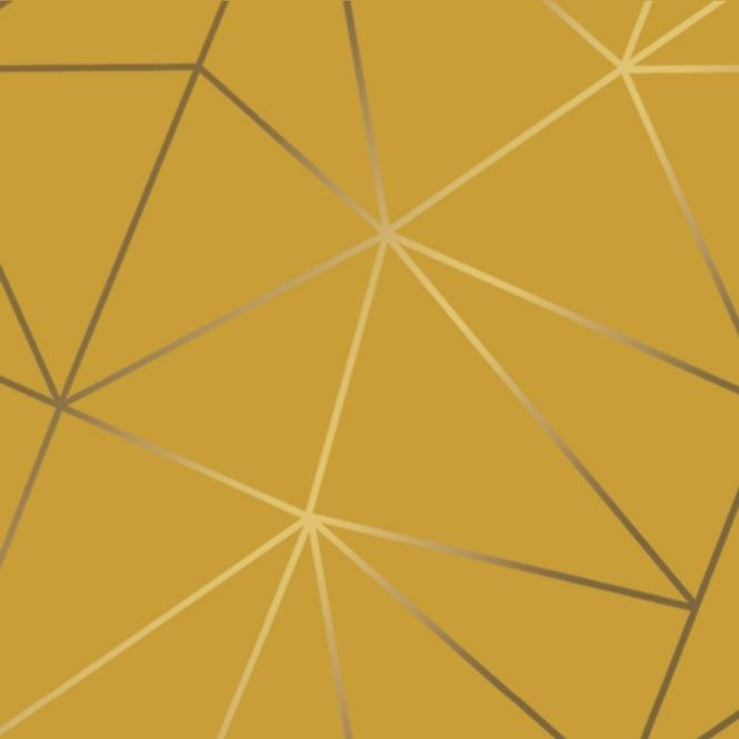 Zara Shimmer Metallic Geometric Wallpaper Mustard Gold