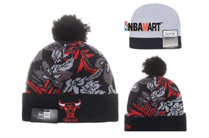 1bee44c61 New Era All Star Game Chicago Bulls Logo Cuff Beanie Pom Pom Knit ...