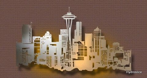 Seattle Wall Art example of metal skyline art | home decor | pinterest | skyline