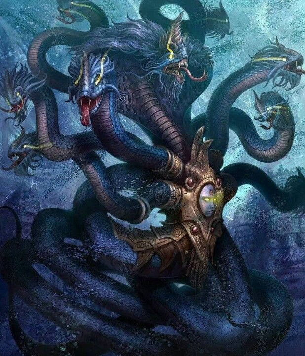 Pin by Justin Silvasy on Hydra idea pics | Fantasy monster, Mythical