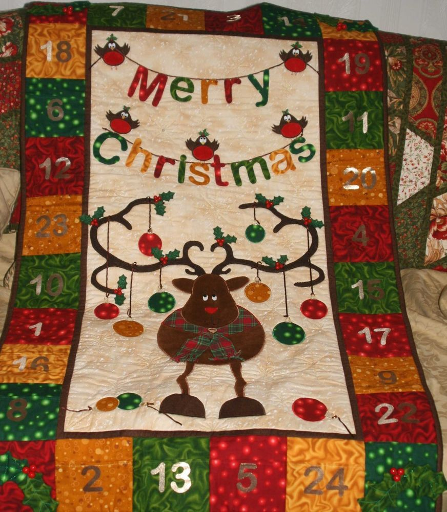 Patchwork quilting christmas advent calendar wall hanging sewing patchwork quilting christmas advent calendar wall hanging sewing pattern jeuxipadfo Gallery