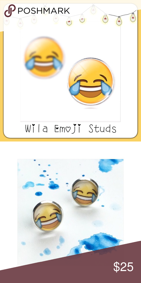 Wila Laughing Emoji Stud Earrings Laughing Emoji Stud Earrings Emoji