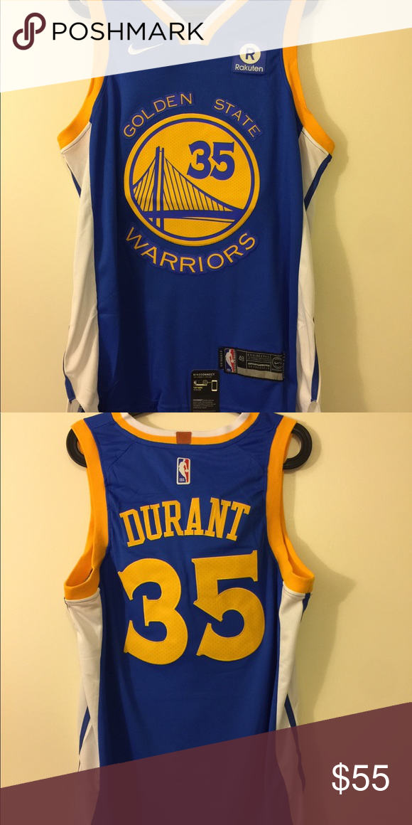 Kevin Durant  35 golden state warriors Blue Jersey Brand new with ... 19ae179f1
