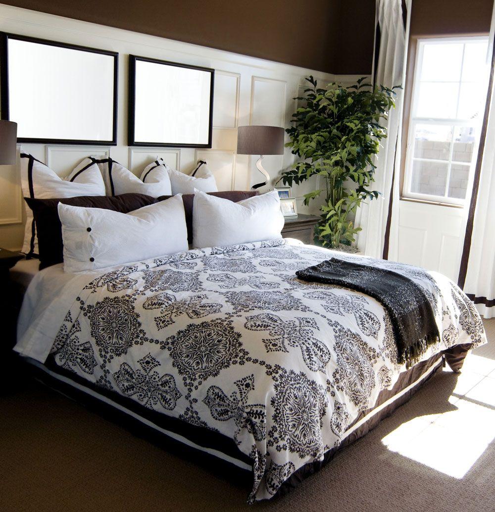 Magnifique chambre de style transitionnel avec lampedetable gorgeous transitional - Luminaire suspendu chambre a coucher ...