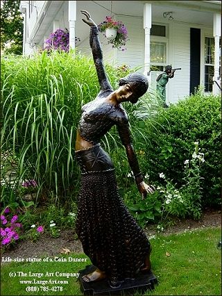 Coin Dancer | Art Deco U0026 Nouveau | Garden Statues | Garden Sculptures |  Life