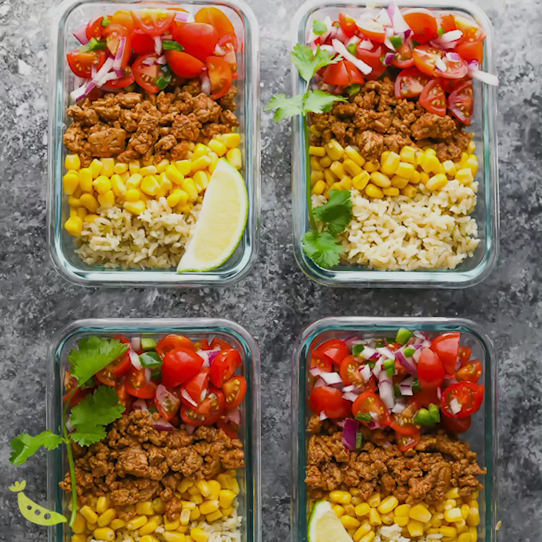 Turkey Taco Meal Prep Bowls