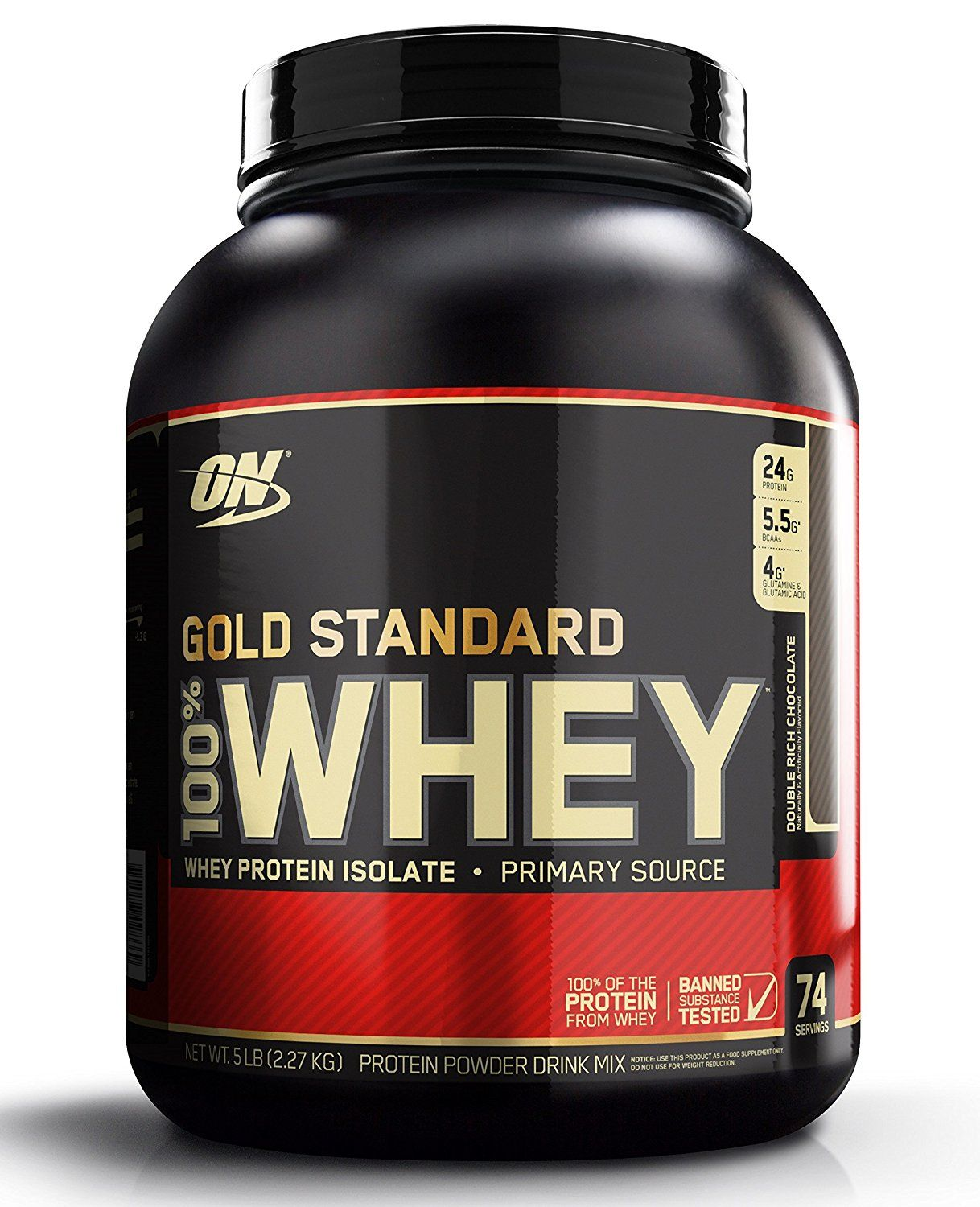 Optimum Nutrition 100 Whey Gold Standard Double Rich Chocolate 5 Pound 80 Ounce Optimum Nutrition Whey Gold Standard Whey Protein Gold Standard Whey