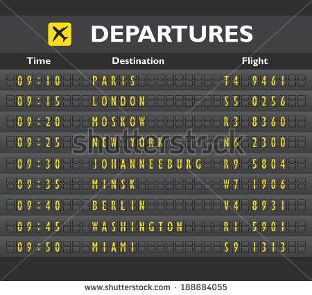 Airport Departure Arrival Destination Mechanical Analog Old Style