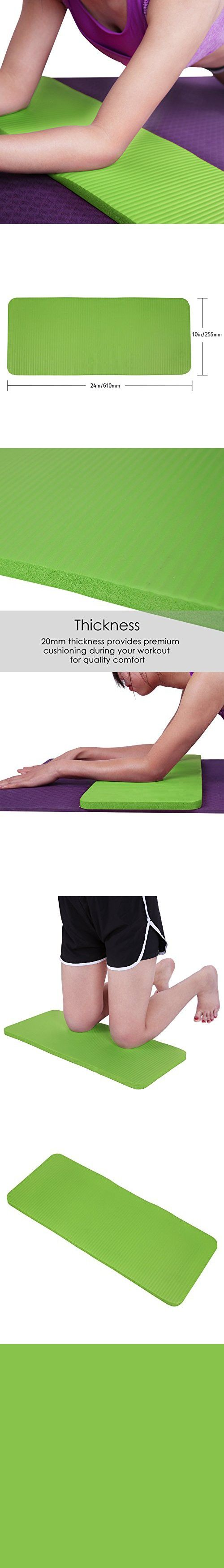 11a0b8e695d HDE Yoga Knee Pad 20mm Thick Anti-Slip Workout Mat for Yoga Pilates Fitness  and Exercise Pressure Point Relief Pain Free 24