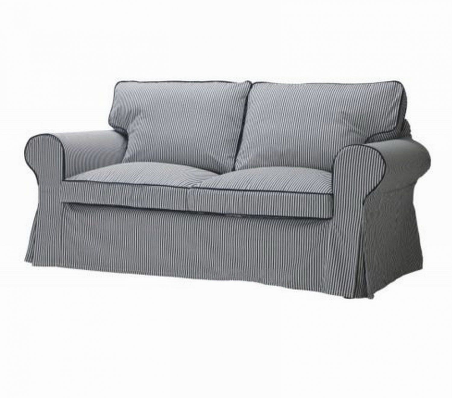 Ikea Ektorp 2 Seat Sofa Slipcover Loveseat Cover Simris Blue White Stripe Striped Couch Blue Striped Couch Couch Covers