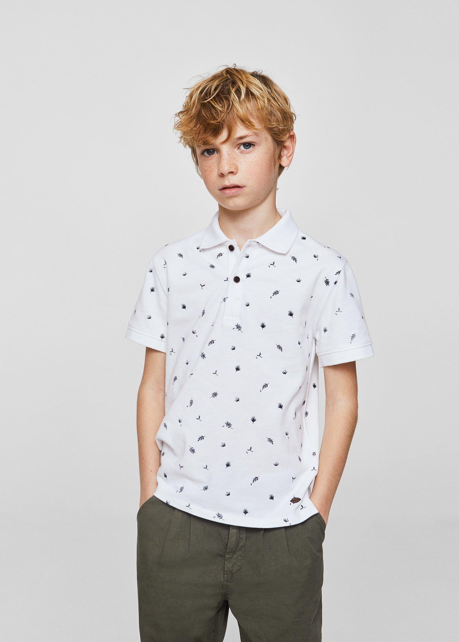 81391f8b5 Mango Printed Cotton Polo Shirt - Boys | Kids 7-8 Years (128Cm ...
