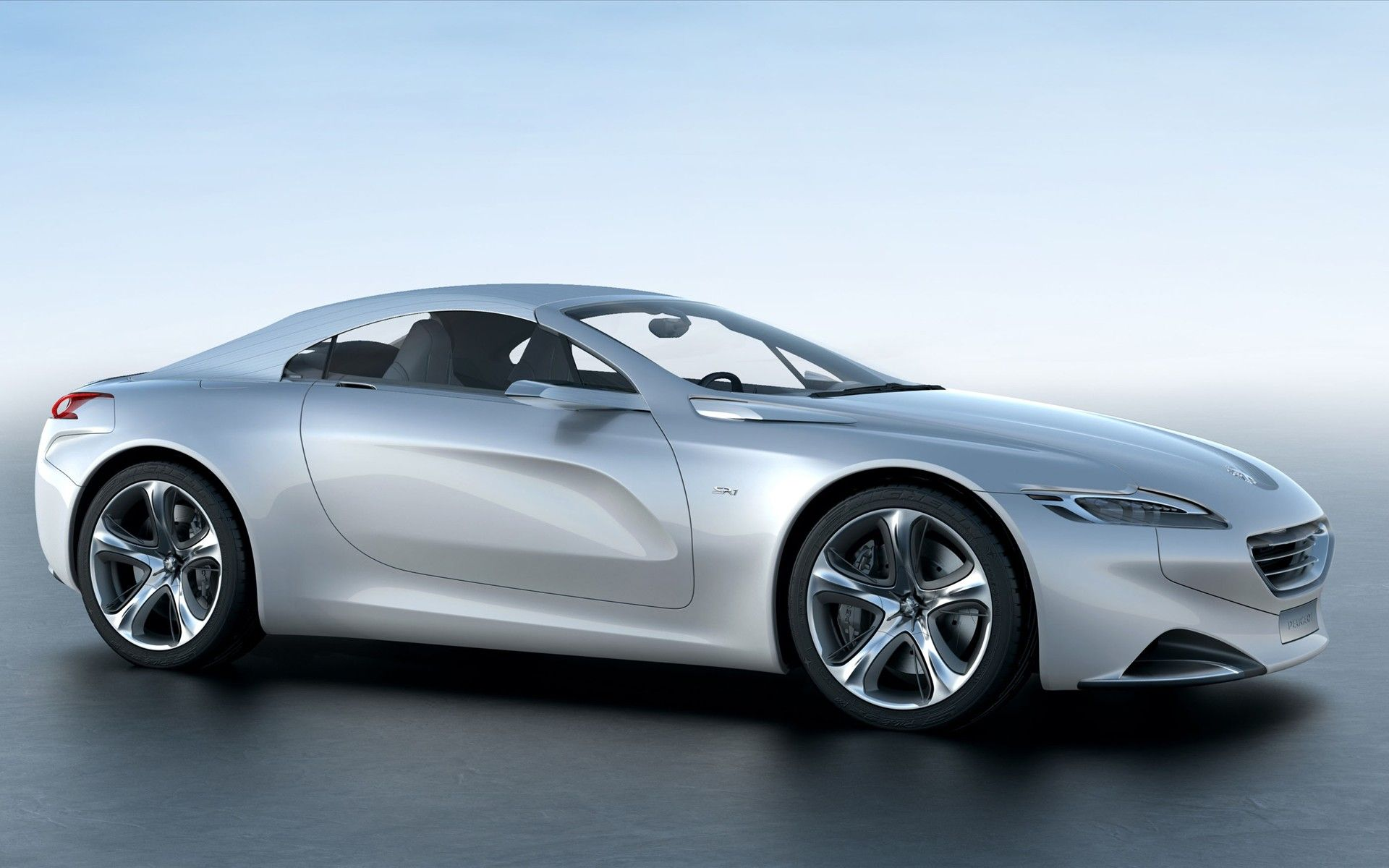 2010 peugeot concept car front and side top up 2 wallpaper