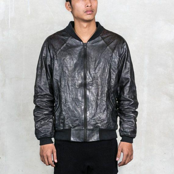 096229ae5 Sale! BADLANDS BOMBER Black Leather Jacket - Heathen Clothing ...