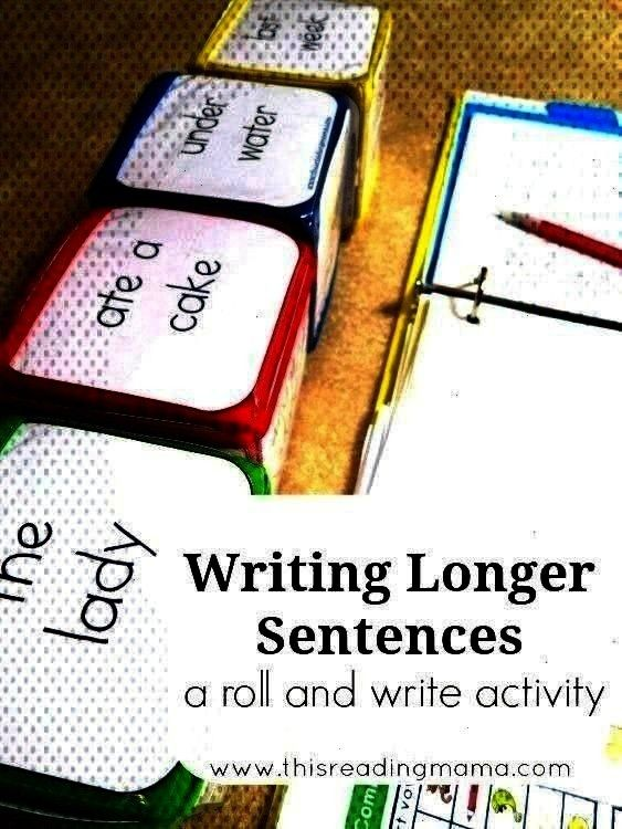 roll and write activity This Reading MamaYou can find Sentence writing and more on our websiteWriting LongWriting Longer Sentences  a roll and write activity This Reading...