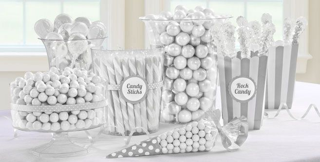 White Candy Buffet - White Candy Table Ideas - Party City