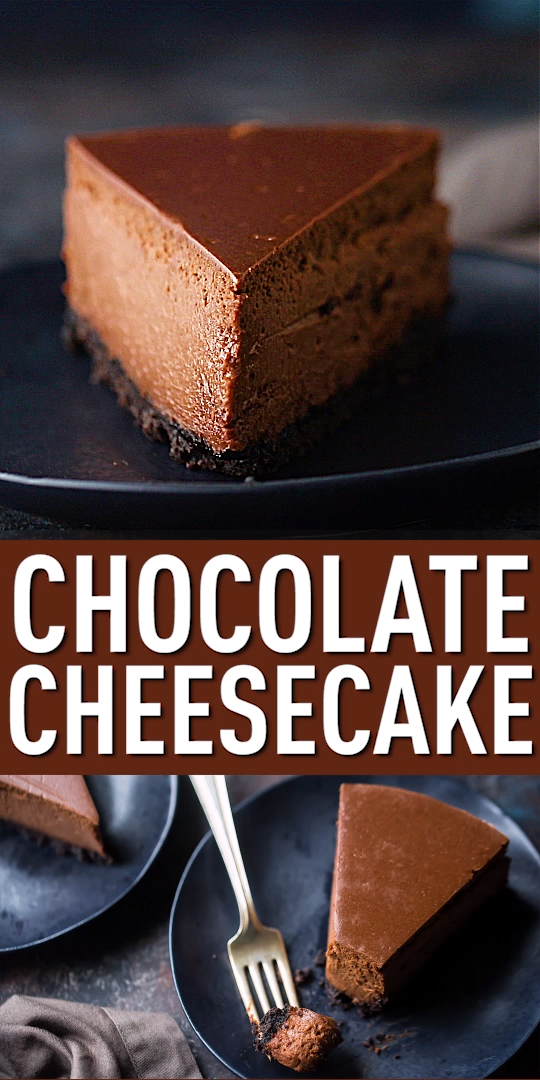 Chocolate Cheesecake #cheesecakes