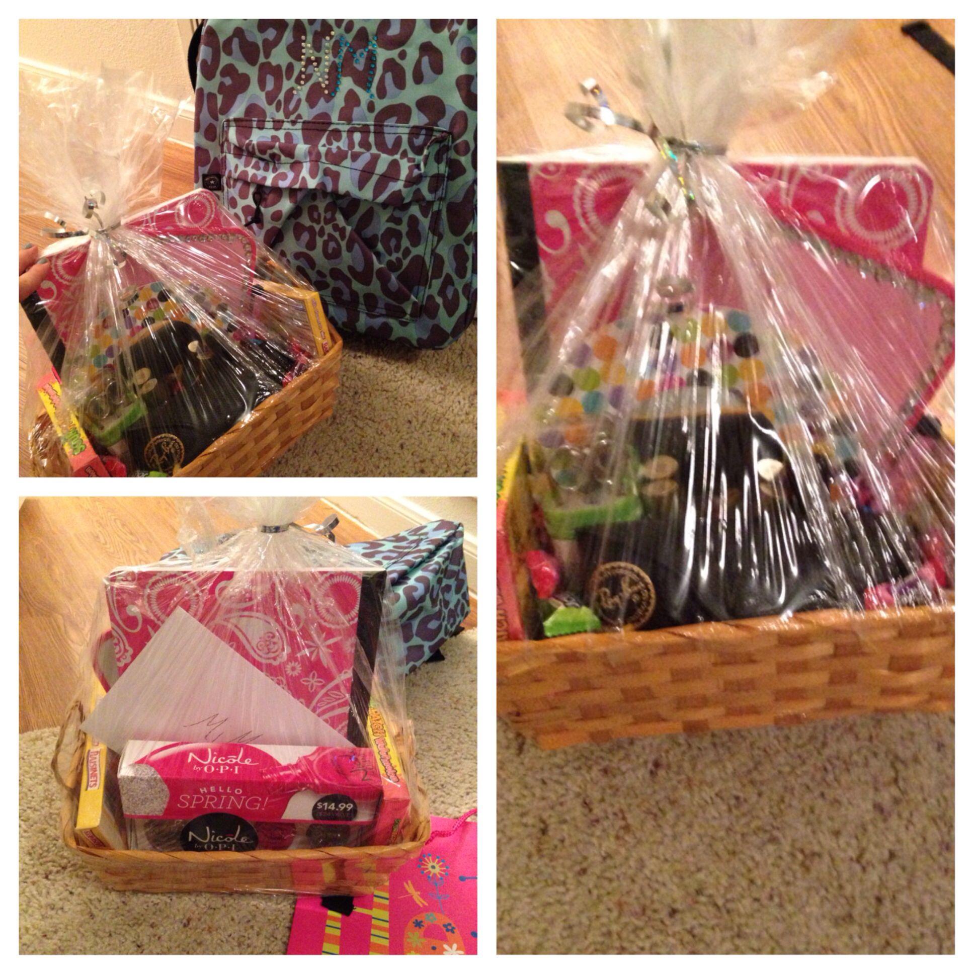 Little sisters gift basket simple diy raybans opi