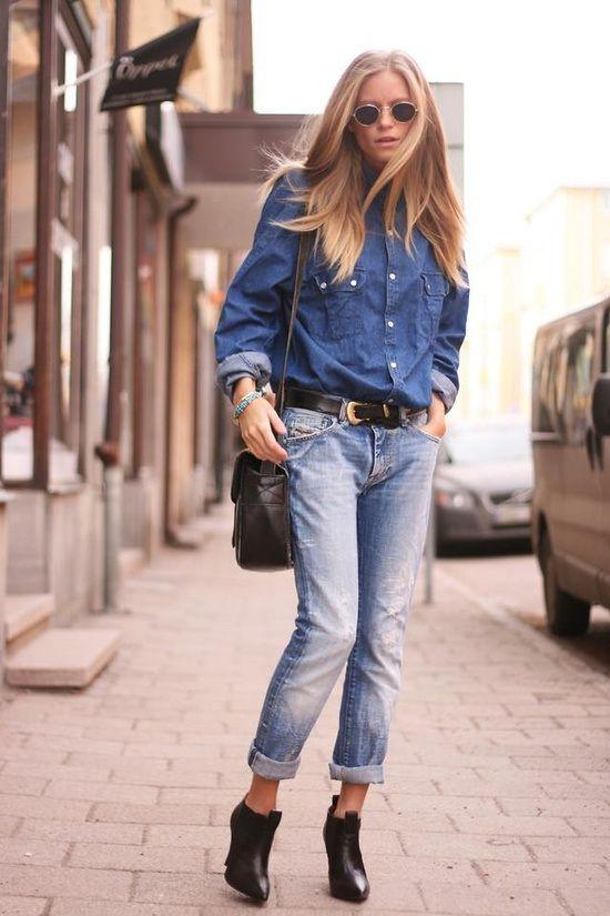 Αποτέλεσμα εικόνας για denim on denim street style