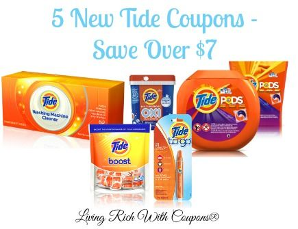 Tide Laundry Detergent Coupons 5 New Tide Coupons Save Over 7