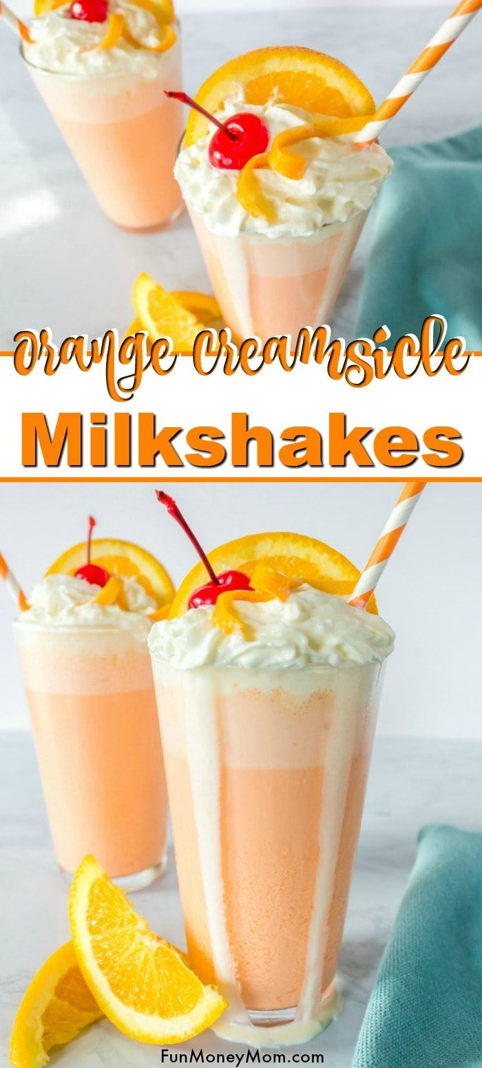 Orange Creamsicle Milkshake Creamsicle Milkshake - This Orange Crush Milkshake is the perfect easy dessert for a hot summer day! Make this dessert recipe as a treat for the kids (or the grownups!).