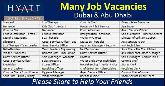 Latest Hyatt Hotel Jobs Vacancy Abu Dhabi 2020 Hotel Jobs Hyatt