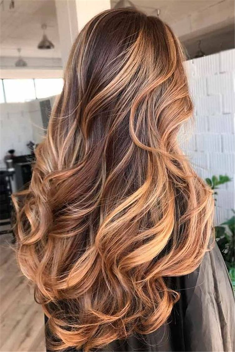 Brunette Brown Hair With Caramel Highlights Ideas For Winter ...