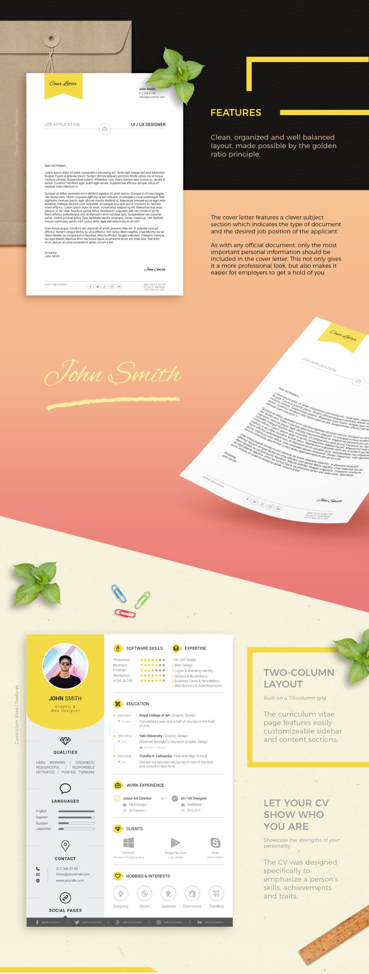 Free Resume Template Via Stefan Mihaylov Graphicpear  Design