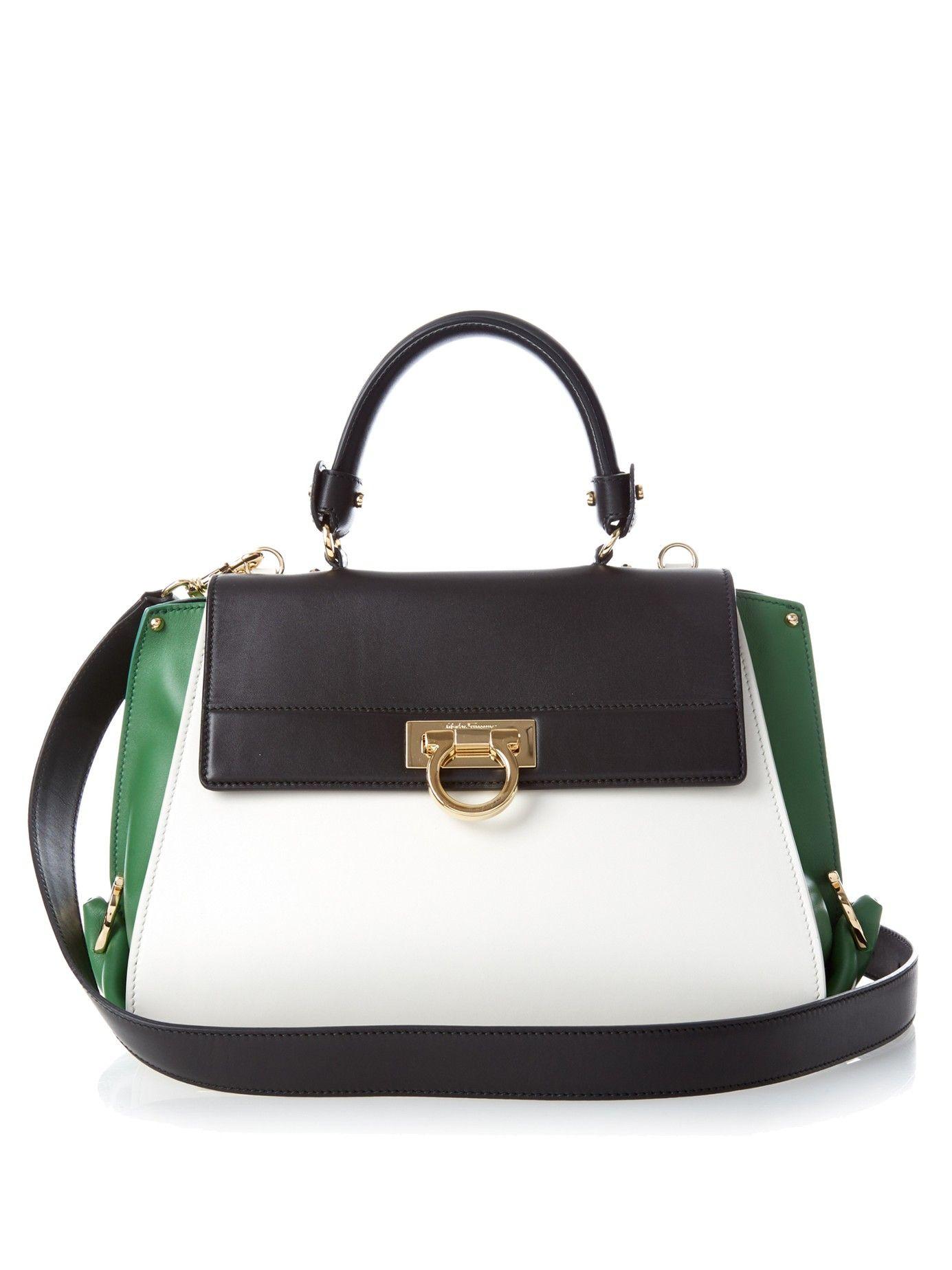 6445a6d7e0d4 Sofia medium tri-colour leather tote