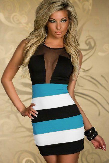 Sexy Damen Tanktop Kleid Spitzenkleid Minikleid Cocktailkleid Größe ...