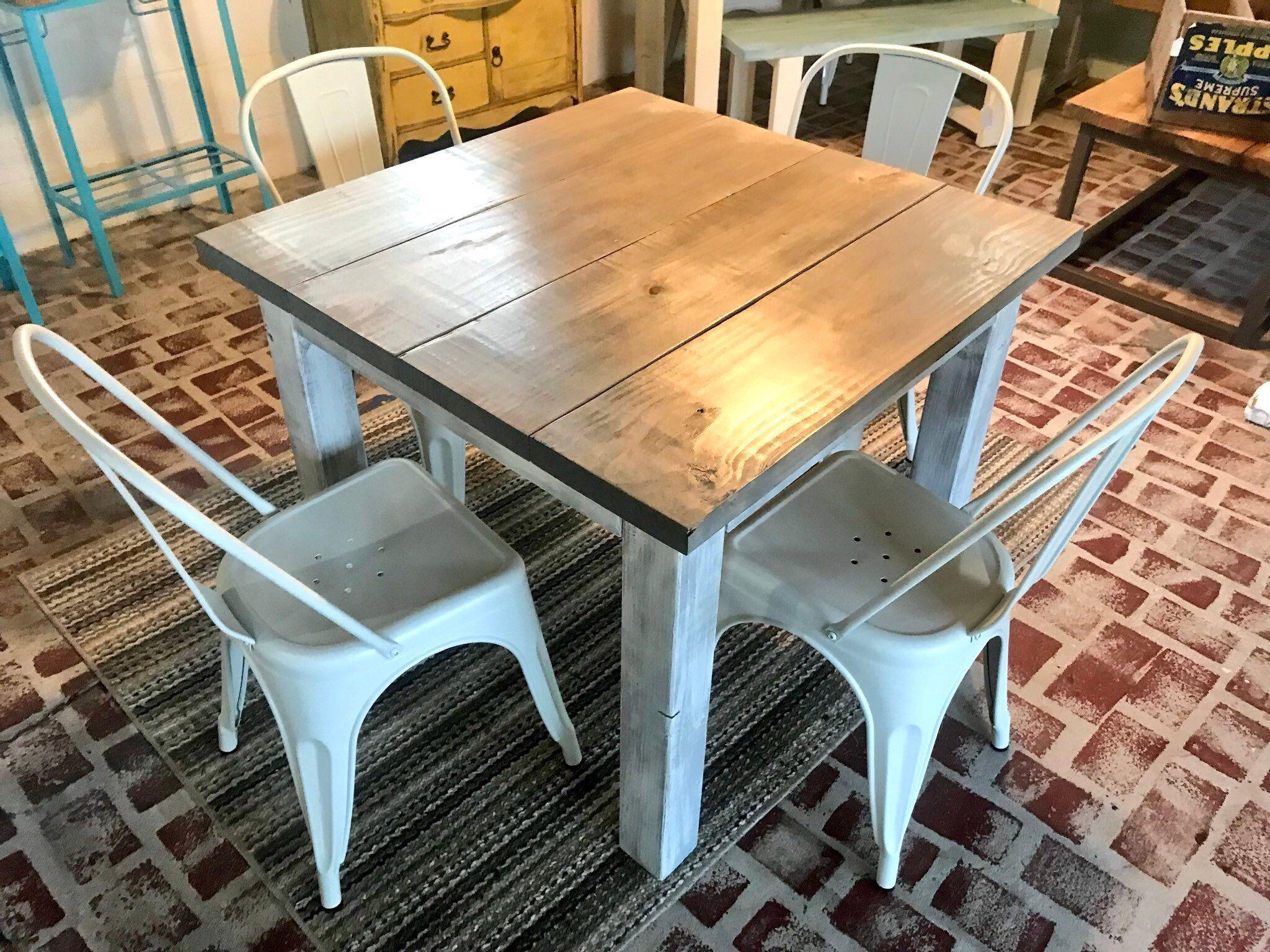 Square Farmhouse Table Rustic Farmhouse Table Dining Set   Etsy ...