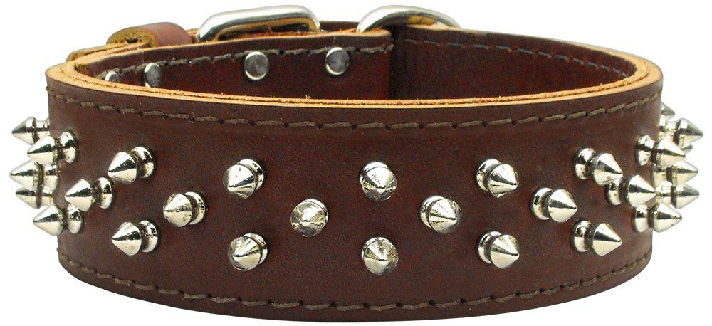 Mirage - Brutus Spiked Leather Dog Collars