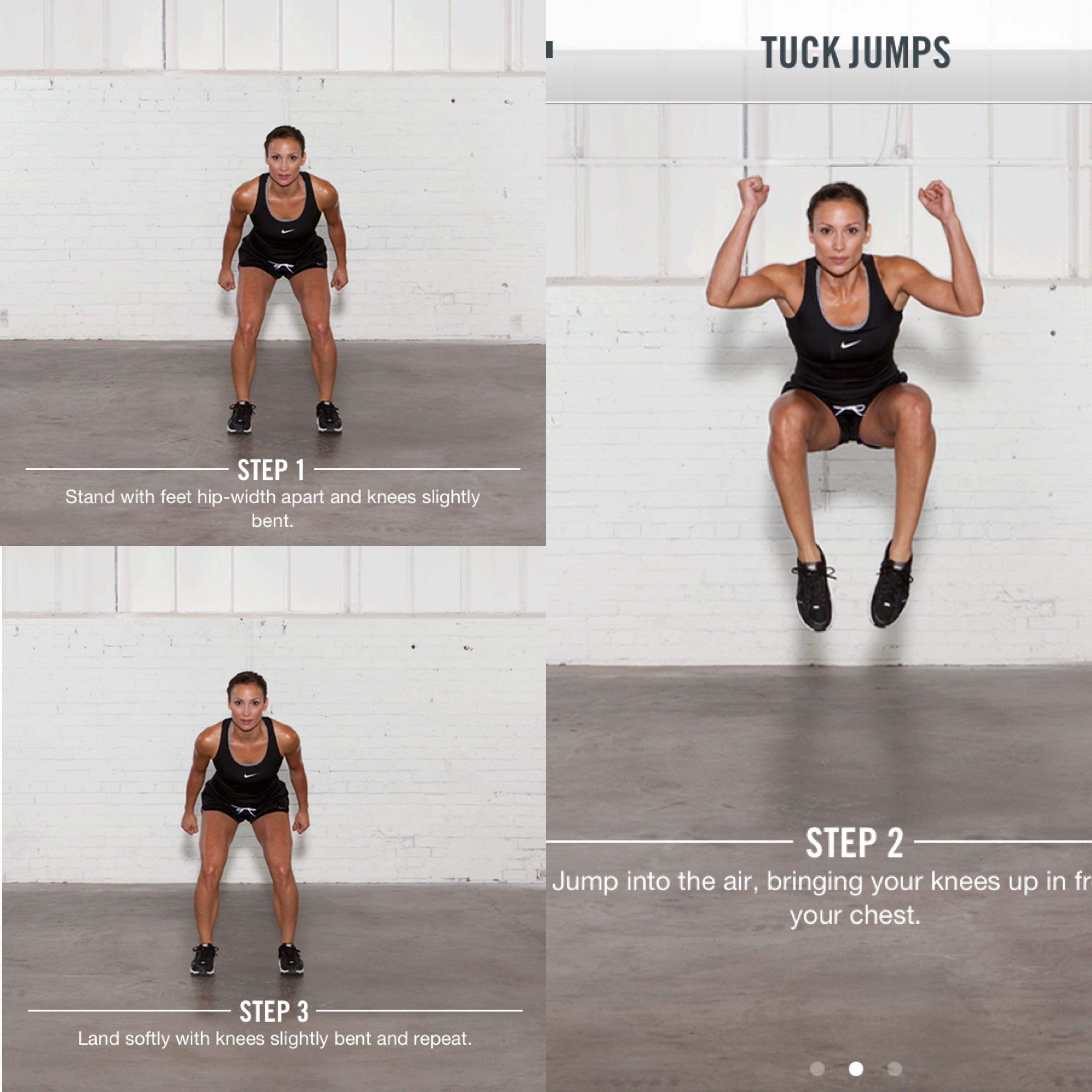 Nike Training Club Workout Tuck Jumps Volleyball Practice Fitness Motivation Inspiration