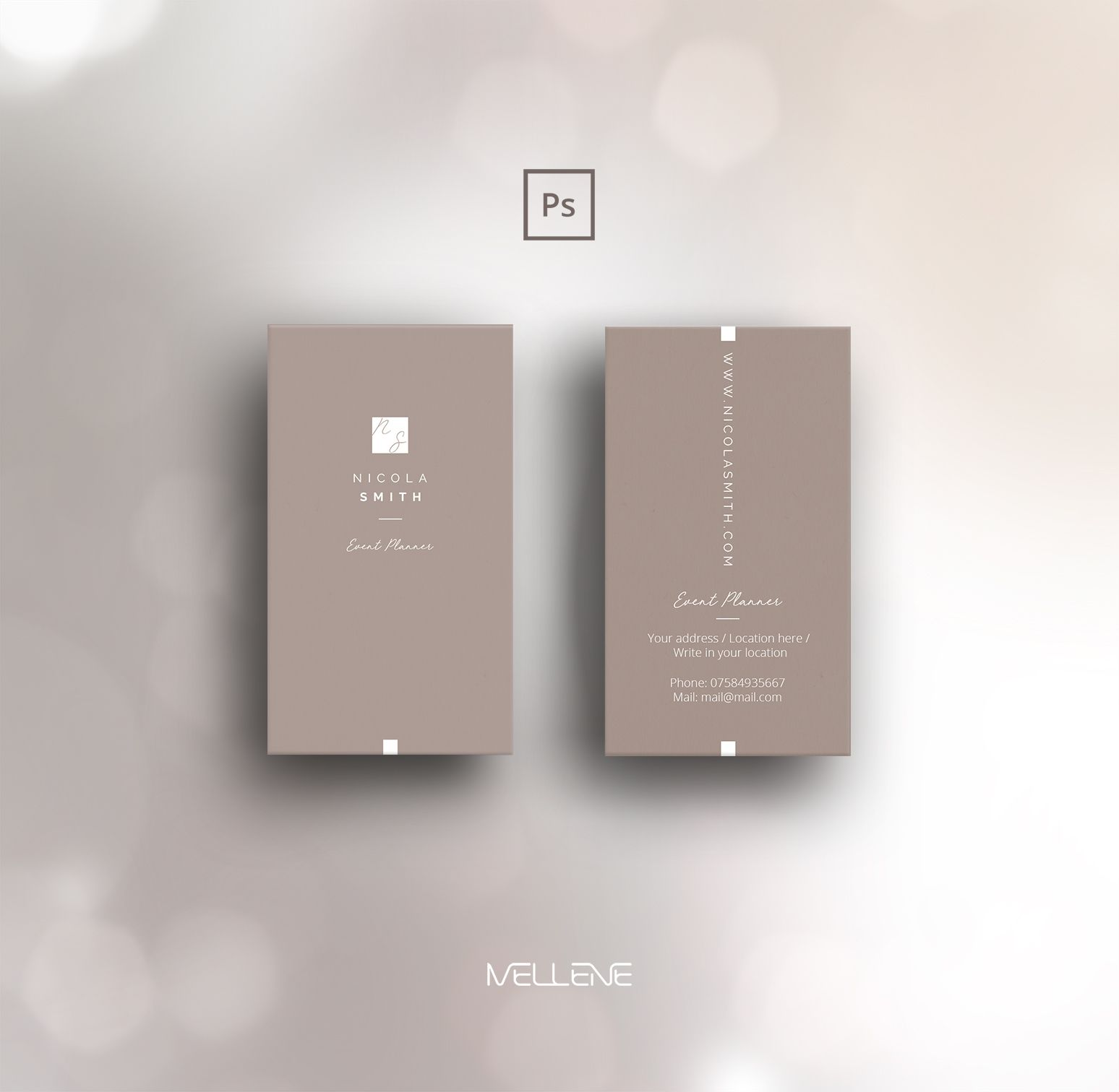 Business Card Template For Adobe Photoshop Psd File Etsy Business Card Design Simple Business Card Design Minimal Business Cards Creative